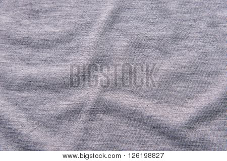 Close up of beautiful wrinkle grey fabric texture.