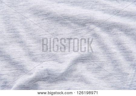 Close up of beautiful wrinkle grey fabric.