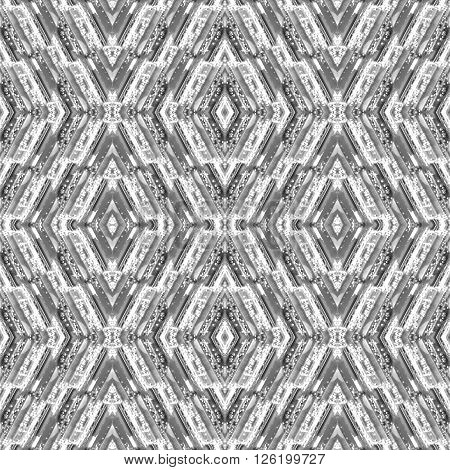 Abstract seamless pattern with stripes and glass drops in the geometric forms. Mosaic background. Rhombic texture. Contemporary endless ornament.