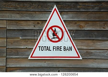 Total fire ban notice board