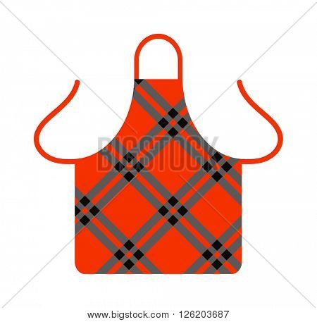 Kitchen apron cooking chef uniform protective clothing vector illustration.