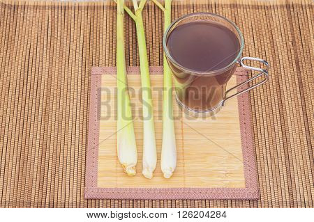 Thai herbal drinks Lemon grass water background