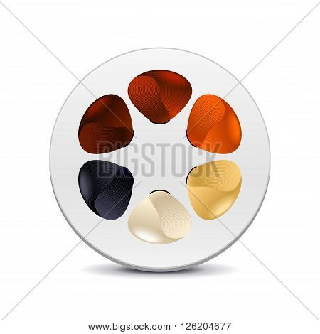 Hair dye colors isolated on white photo-realistic vector illustration