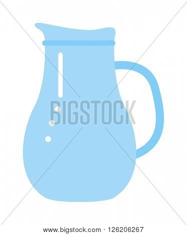 clay jug isolated on white