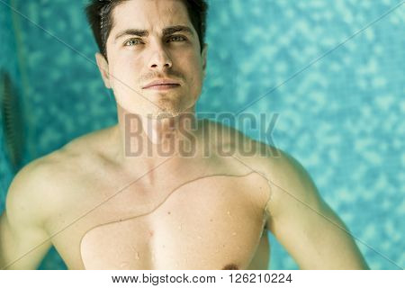Man Floating In The Pool