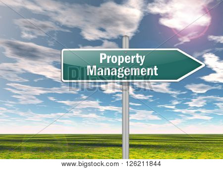 Image Photo Signpost with Property Management wording
