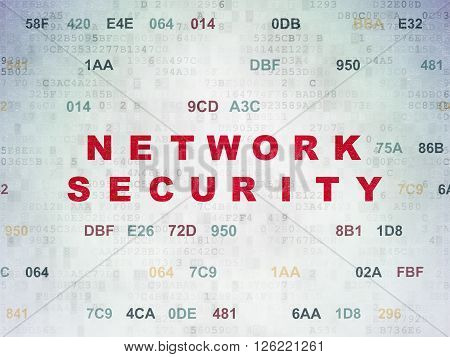 Protection concept: Network Security on Digital Paper background