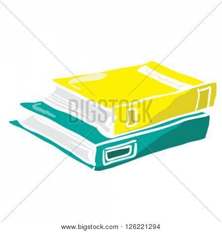 two books cartoon illustration