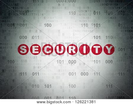 Privacy concept: Security on Digital Paper background