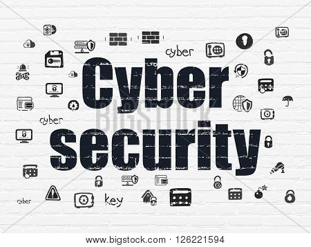 Security concept: Cyber Security on wall background