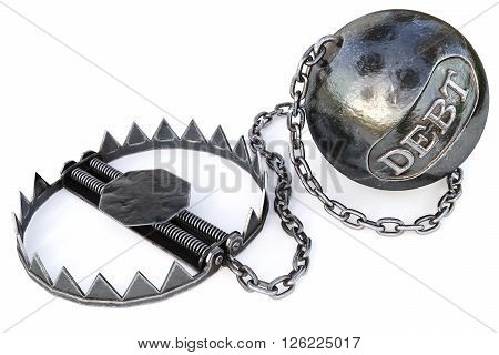 trap isolated on a white background. 3D illustration.