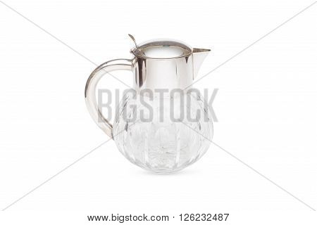 An Old Fashioned Glass Honey Dispenser