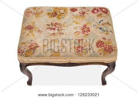 Top View Of An Antique Wooden Stool
