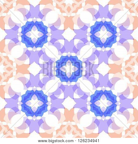 colored  translucent seamless geometric shapes soft pattern