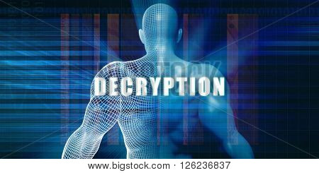 Decryption as a Futuristic Concept Abstract Background 3d Illustration Render