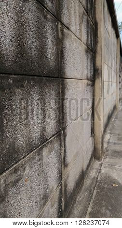 Wall of an old house Made of brick blocks.Vertical Picture.
