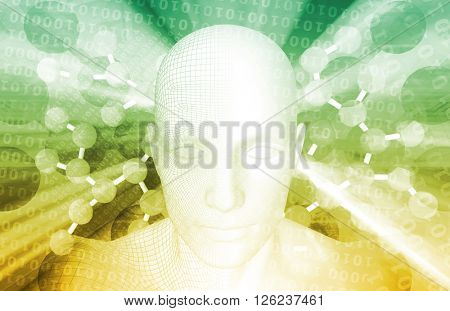 Security Threat on a Network with Moving Data 3D Illustration Render