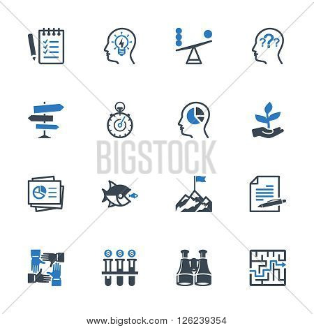 Business Management Icons Set 3 - Blue Series