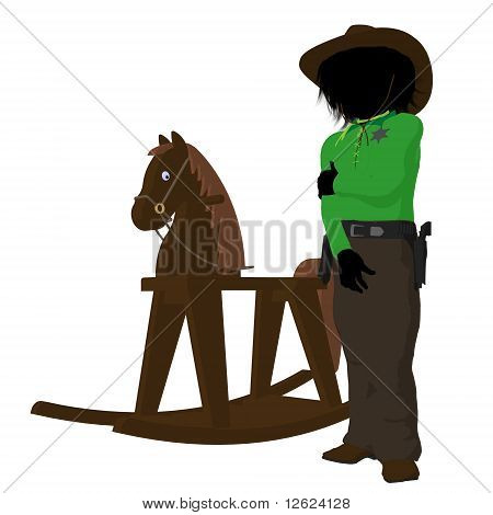 Teen Cowboy Illustration