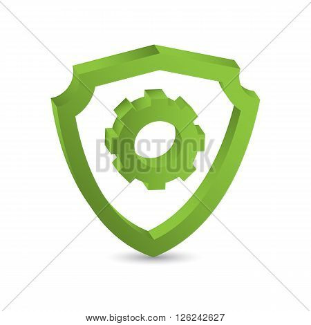 Protection sign in 3D. Protection concept. Protection icon. Protection shield. Protection symbol.