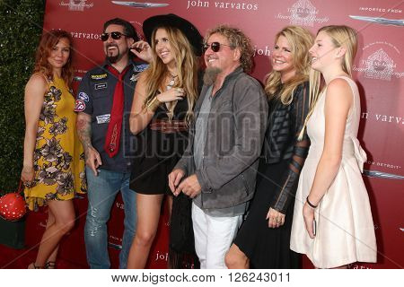 LAS VEGAS - APR 17:  Sammy's daughter-in-law, Sammy's son, Kari Karte-Hagar, Sammy Hagar, daughters at the Stuart House Benefit at the John Varvatos Store on April 17, 2016 in West Hollywood, CA