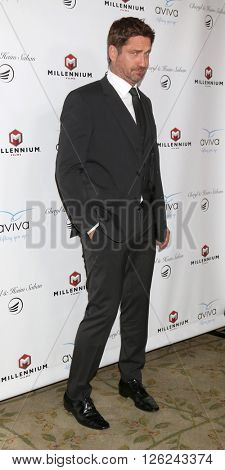 LAS VEGAS - APR 16:  Gerard Butler at the A Gala To Honor Avi Lerner And Millennium Films at the Beverly Hills Hotel on April 16, 2016 in Beverly Hills, CA