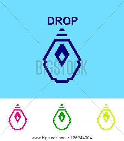 Business Icon -  water drop symbol logo design template icon. Vector logo design template. Abstract emblem for  ecological, medical, chemical, food and oil design.