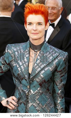 Sandy Powell at the 88th Annual Academy Awards held at the Dolby Theatre in Hollywood, USA on February 28, 2016.
