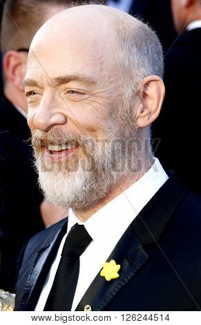 J.K. Simmons at the 88th Annual Academy Awards held at the Dolby Theatre in Hollywood, USA on February 28, 2016.