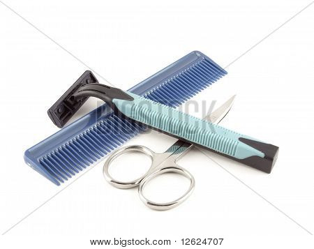 Razor, Scissors And Comb