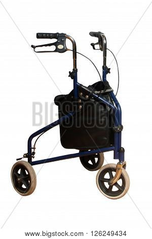 3 wheels walker for adults with basket