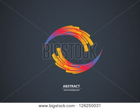 Abstract color light background Logo Abstract Business Technology icon