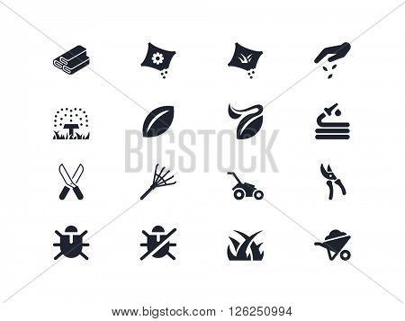 Gardening icons. Lyra series