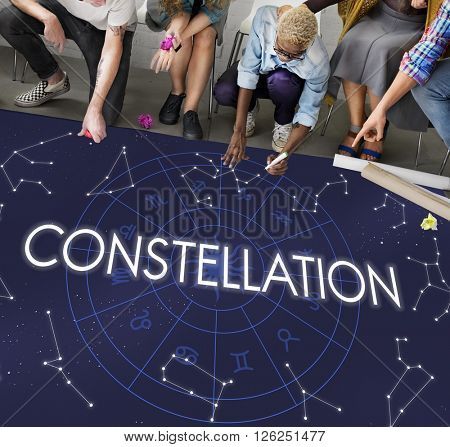 Constellation Astronomy Horoscope Fortune Telling Zodiac Concept
