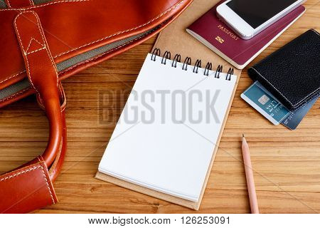 Notebook With Travel Accessories