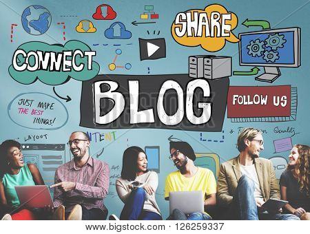 Blog Blogging Social Media Social Networking Online Concept