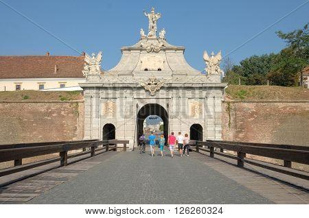 Main Gate of Carolina Citadel in Alba Iulia, Romania