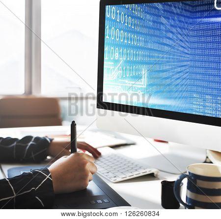 Binary Code Digits Technology Software Concept