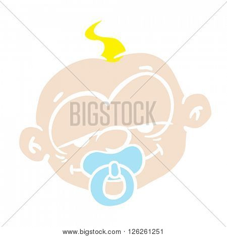 sleepy baby cartoon illustration