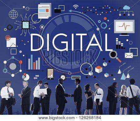 Digital Advanced Technology Innovation Electronics Concept