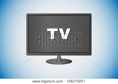 TV screen with TV text in vector illustration.