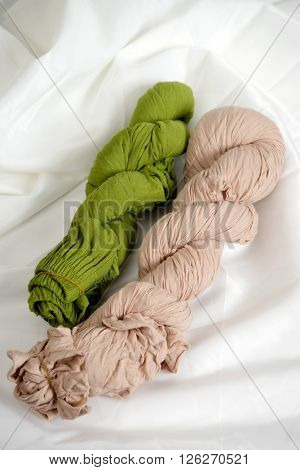 Green And Brown Beige Color Twist Cloth