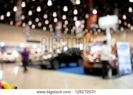 Blur Car Show Marketing Exhibition