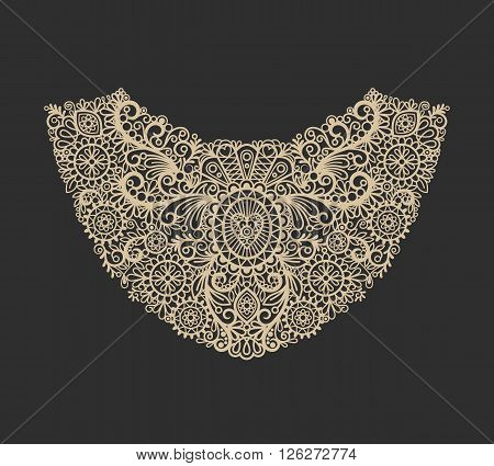 Neck print icon. Neck lace fashion print design. Vector illustration
