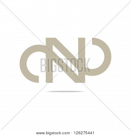 Logo symbol abstract letteing N perfect performance design