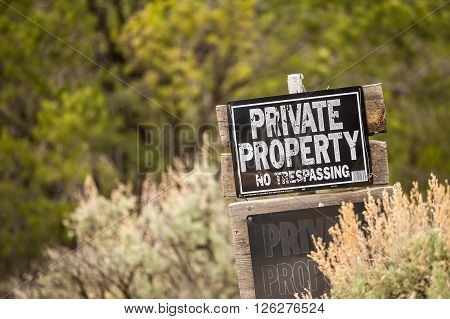 Private Property. No Trespassing.