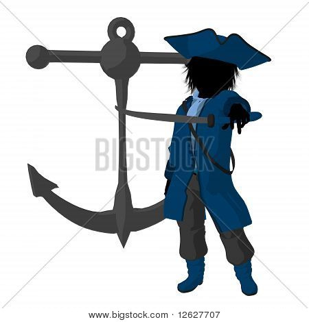 Teen Pirate Illustration Silhouette