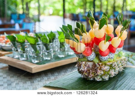 Canape On Wedding Party