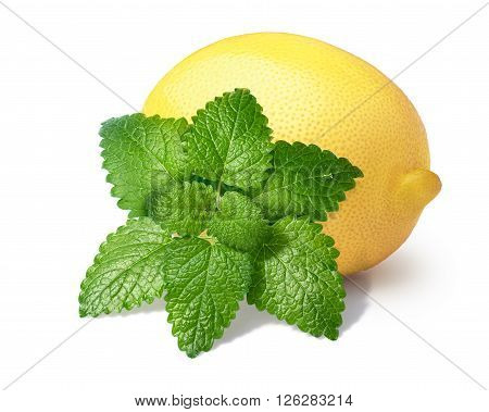 Lemon With Mint Balm Isolated