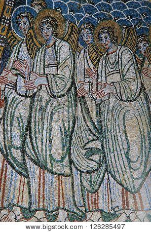 Mosaic In Basilica Santa Maria Maggiore, Rome, Italy